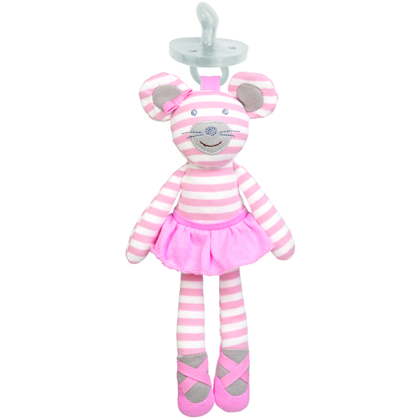 EarthHero - Ballerina Mouse Pacifier Buddy