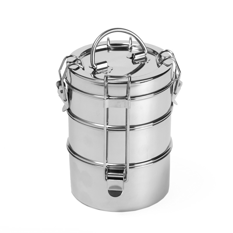 3 Tier Stainless Steel Tiffin Food Container To Go Ware Shop