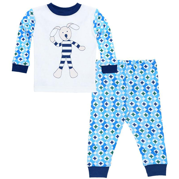 Earthhero - Baby Long Johns - Prism Print Blue