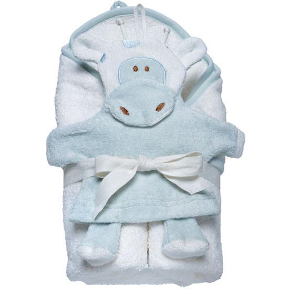 EarthHero - Giraffe Hooded Towel and Wash Mitt Set