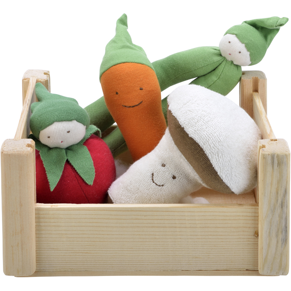 EarthHero - Veggie Crate Plush Dolls Set