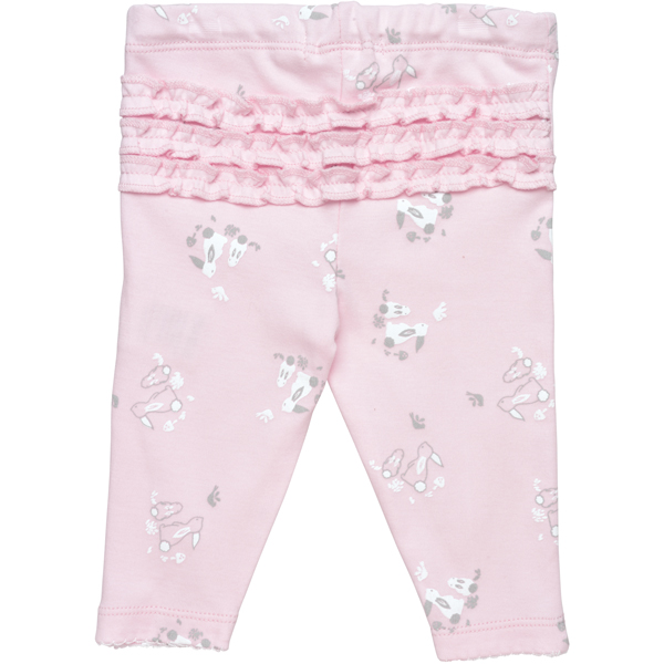 Earthhero - Toddler Ruffle Leggings - Pink Bunny Print