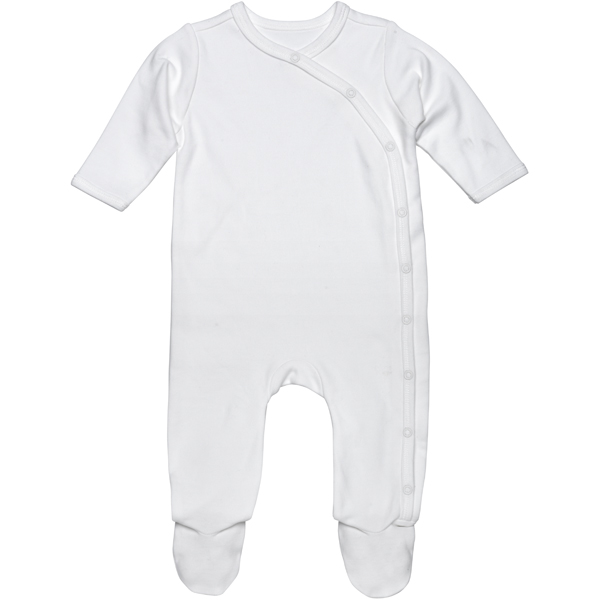 Earthhero - Basic Side Snap Baby Footie - Blush