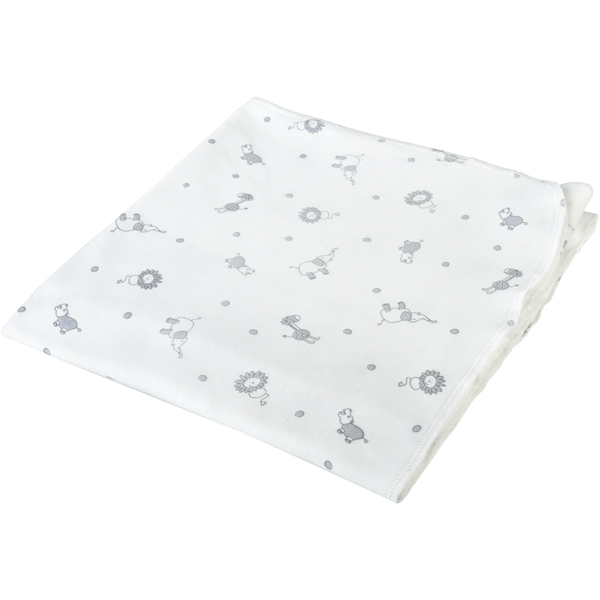 Earthhero - Patterned Cotton Swaddle Blanket - Bunny Print