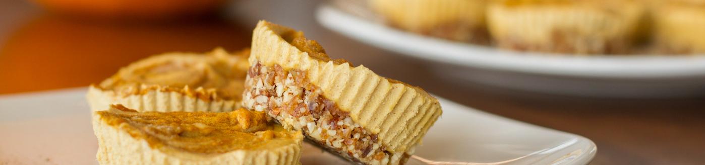 Vegan Pumpkin Cheesecake Bites