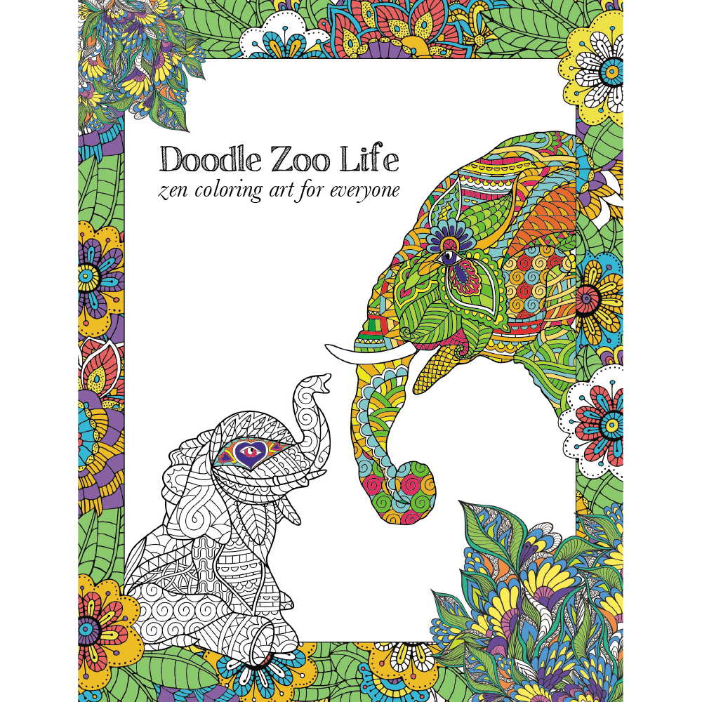 EarthHero - Zoo Life Adult Coloring Book 1