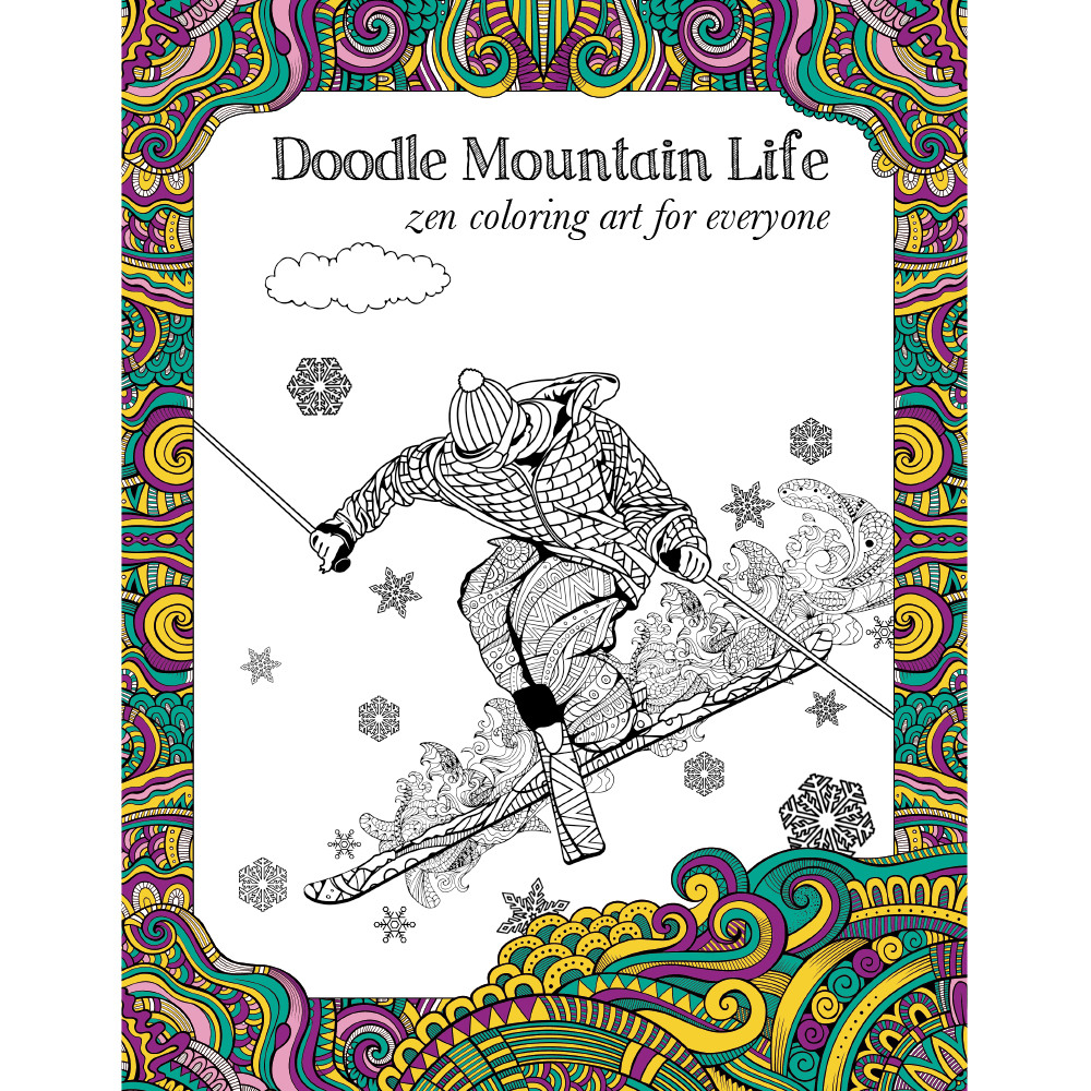EarthHero - Mountain Life Adult Coloring Book 1