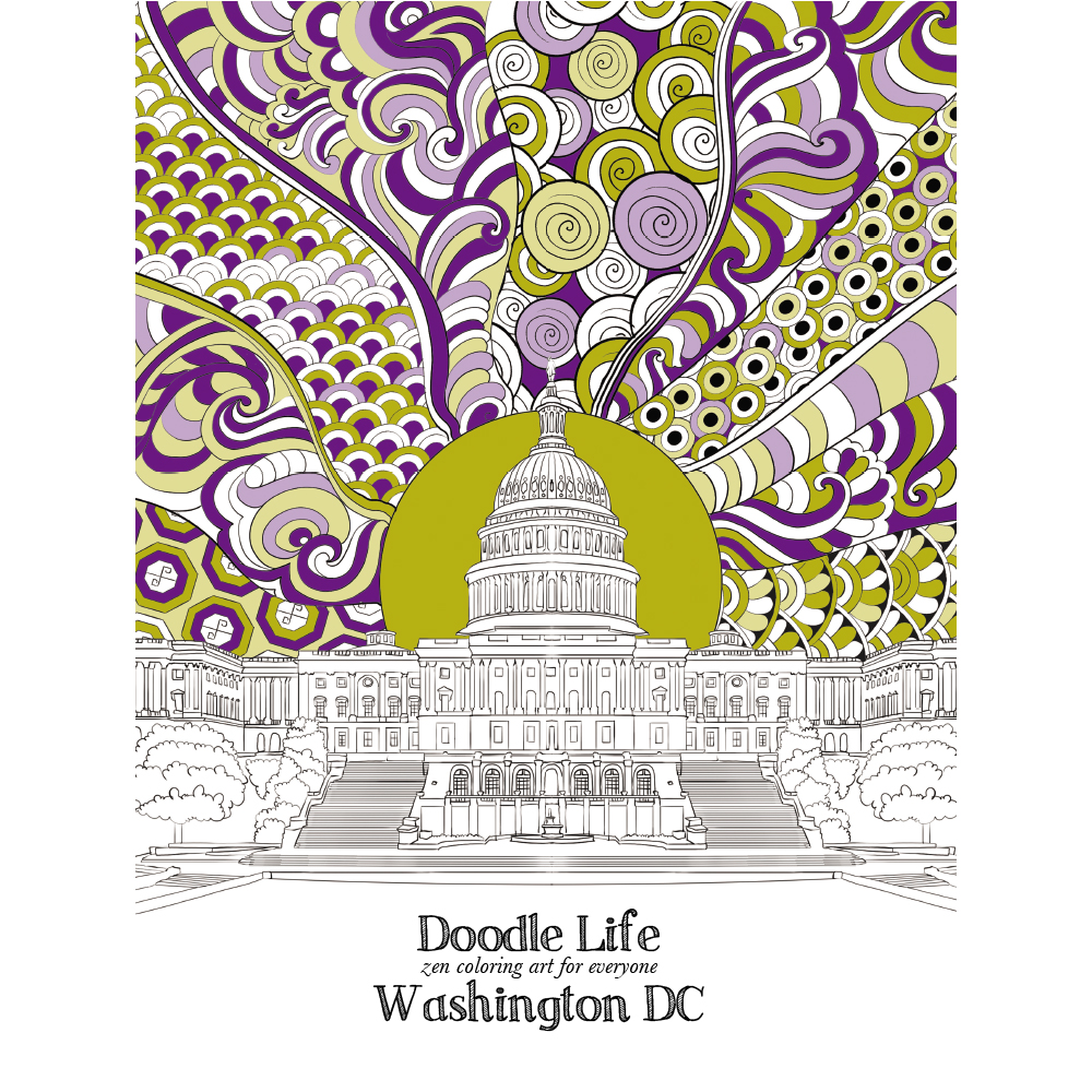 Washington DC Adult Coloring Book