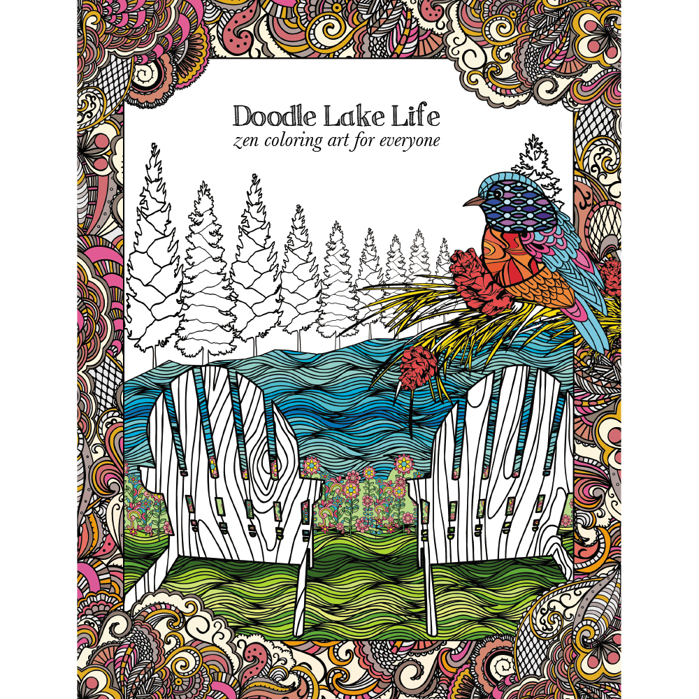 EarthHero - Lakeside Living Adult Coloring Book 1