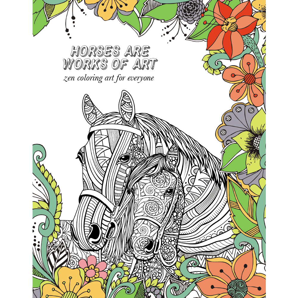 Horse Lovers Coloring Book