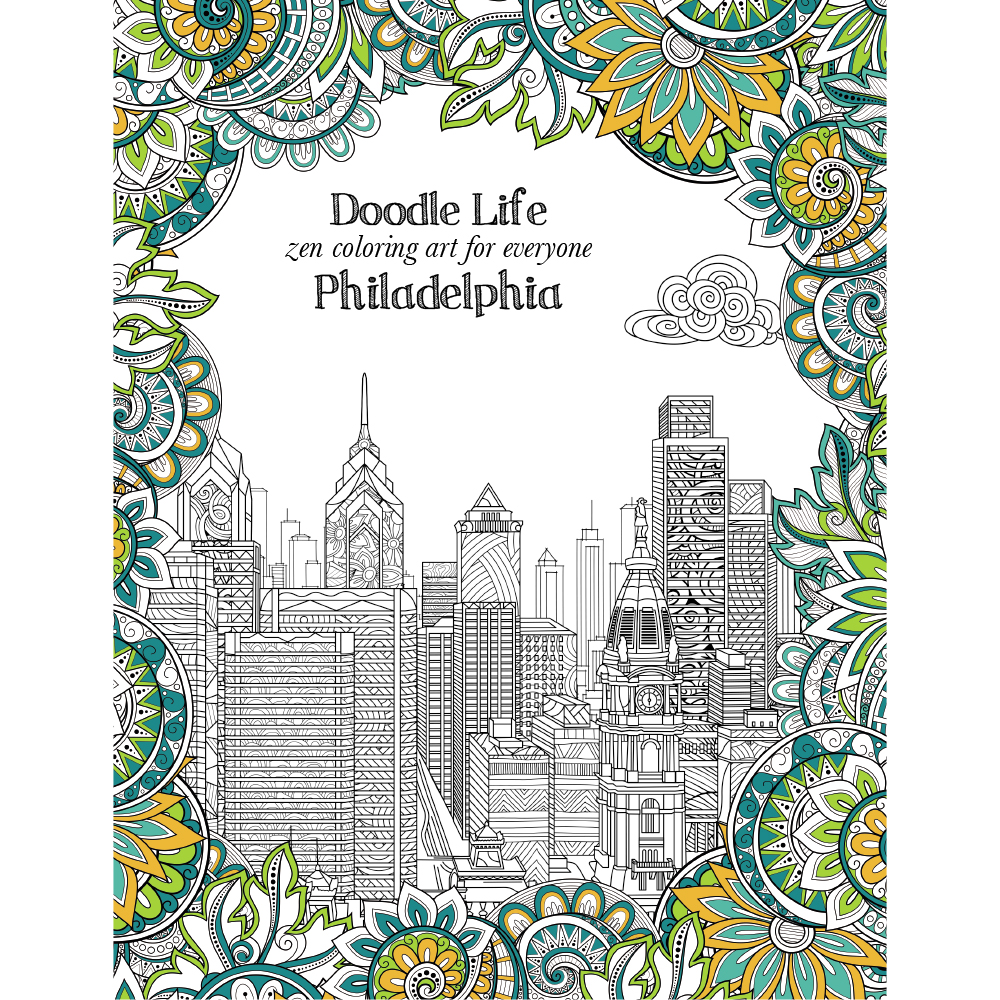 City Of Philadelphia Adult Coloring Book