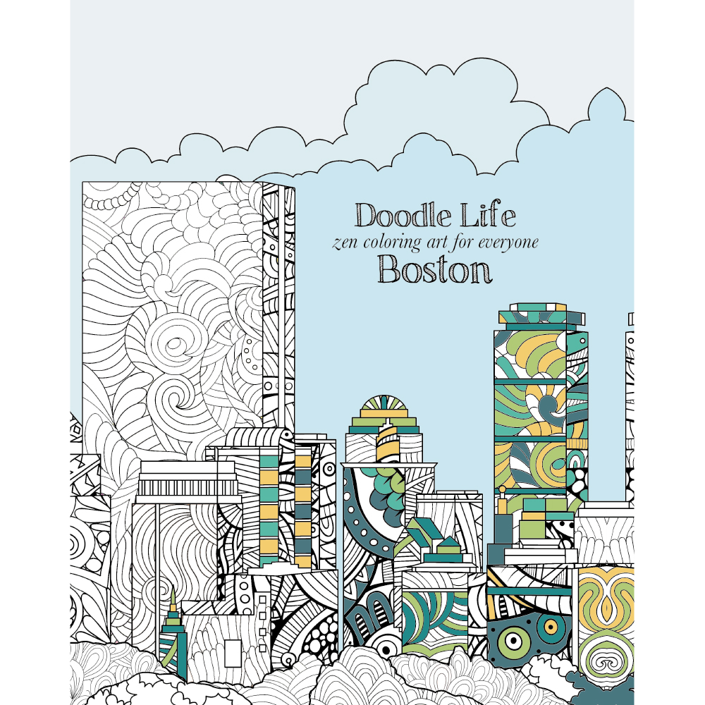 City Of Boston Adult Coloring Book