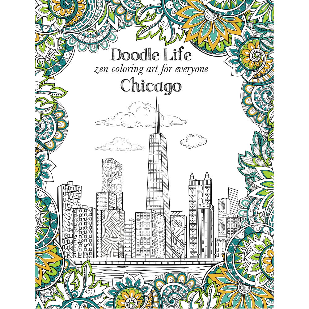EarthHero - City of Chicago Adult Coloring Book 1