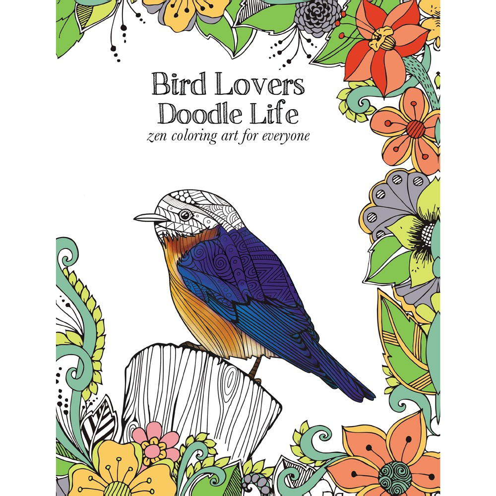 Bird Lovers Adult Coloring Book | Tree-Free | Shop Eco-Coloring!