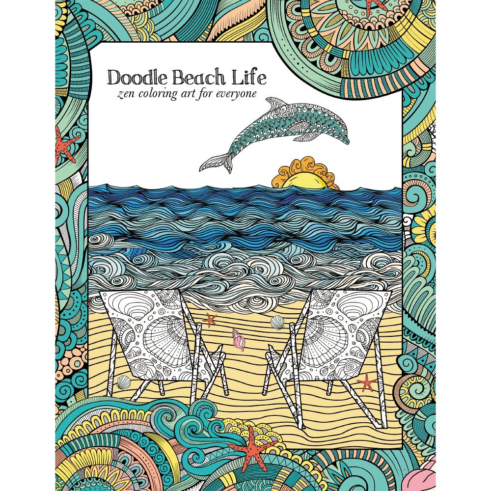 EarthHero - Beach Life Adult Coloring Book 1