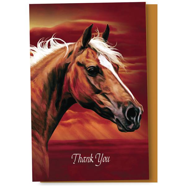 EarthHero - Stallion Sunset Thank You Cards 1