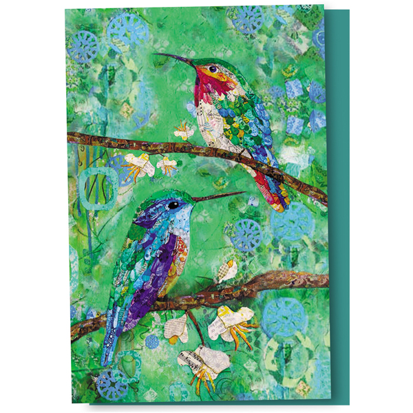 EarthHero - Quilted Hummingbird Thank You Cards 1