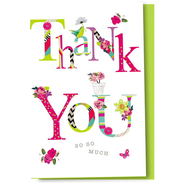 Scrapbook Flower Thank You Cards