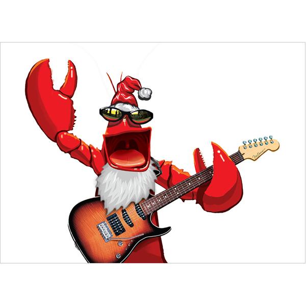 EarthHero - Rockin' Lobster Christmas Cards(10 Pk) 3