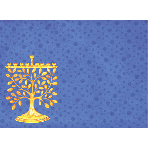 EarthHero - Goldtree Menorah Hanukkah Cards (10 Pk) 3