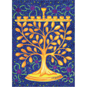 EarthHero - Goldtree Menorah Hanukkah Cards (10 Pk) 1
