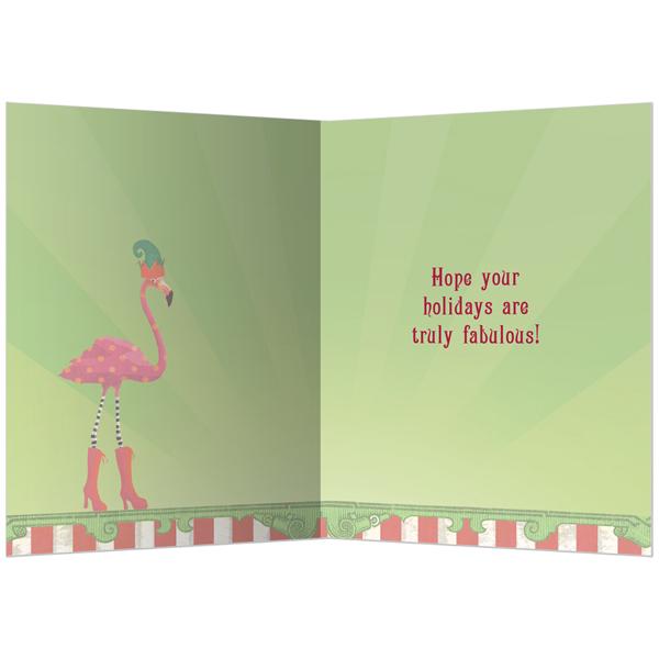 EarthHero - Fabulous Flamingos Holiday Greeting Cards (10 Pk) 2