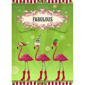 EarthHero - Fabulous Flamingos Holiday Greeting Cards (10 Pk) 1