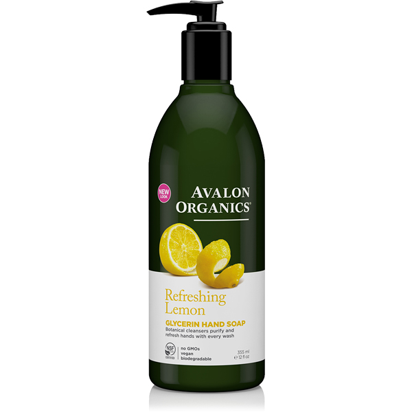 EarthHero - Avalon Organics Lemon Liquid Glycerin Hand Soap 1
