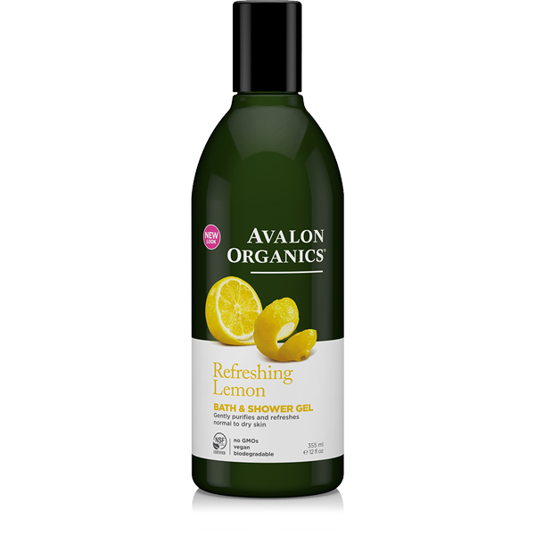 EarthHero - Avalon Organics Lemon Natural Body Wash 1