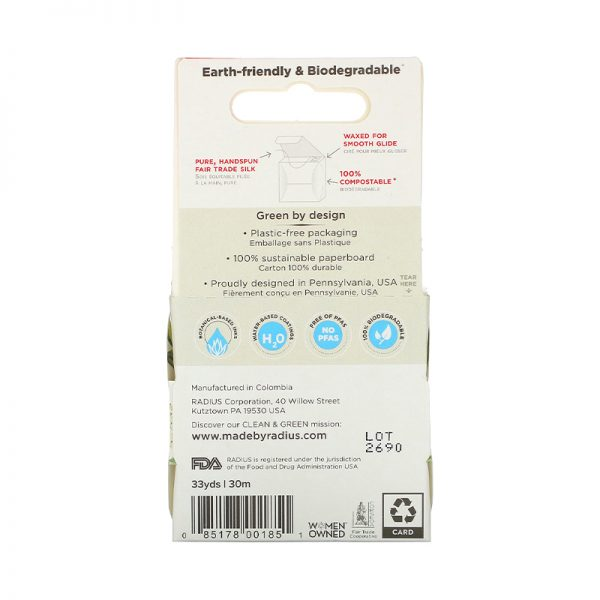 EarthHero - Radius Natural Floss Pure Silk Unscented - 2