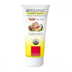 EarthHero - Kids Coconut Banana Organic Coconut Oil Toothpaste 1