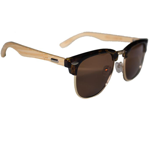 EarthHero - Sunny Sides Bamboo Polarized Sunglasses in Tortoise 1