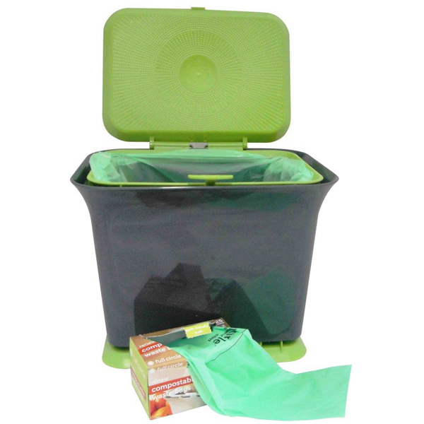 EarthHero - Fresh Air Full Circle Compost Bin -  Green Slate