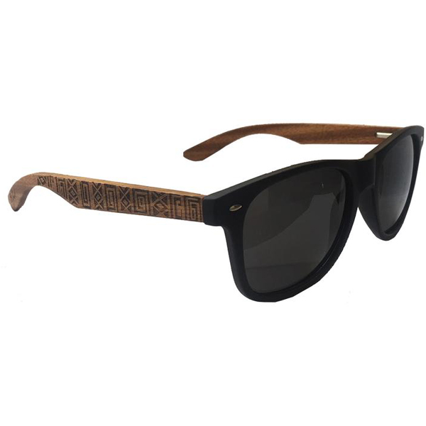 EarthHero - Drift Woods Engraved Bamboo Polarized Sunglasses 1
