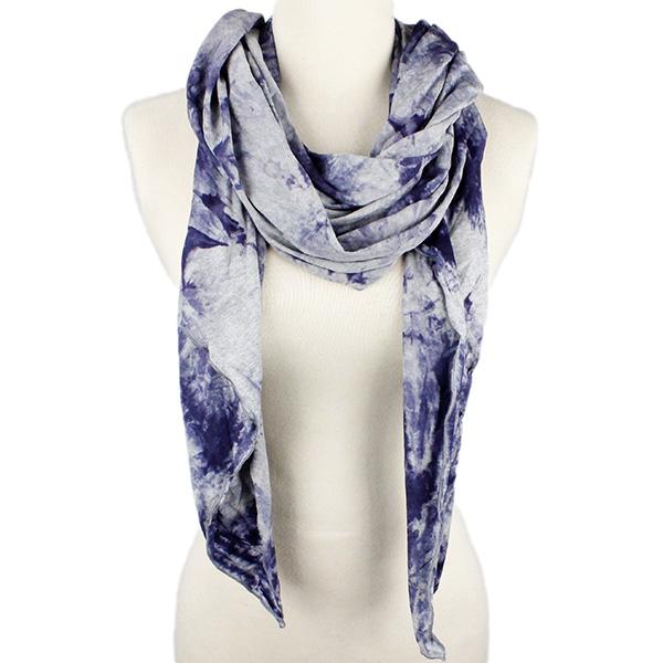 EarthHero - Amber Knit Scarf - Blue Tie Dye