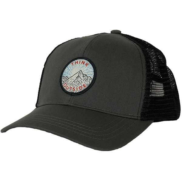 EarthHero - Think Outside Eco Trucker Hat - Charcoal