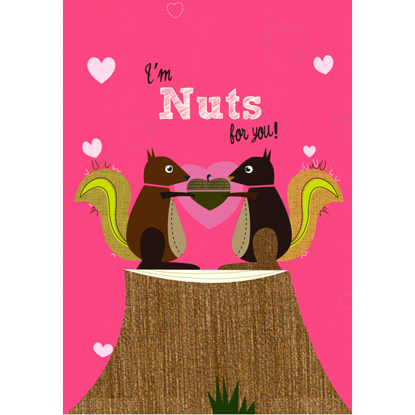 "EarthHero - ""Nuts for You"" Valentine's Day Cards (4pk) 1"