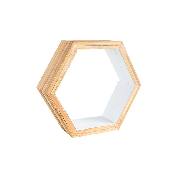EarthHero - Hexagon Bamboo Shelf Starter Set (2)