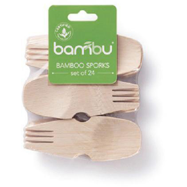 EarthHero - Veneerware Bamboo Compostable Sporks - 24pk - 1