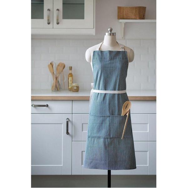 EarthHero - Striped Organic Cotton Cooking Apron - 4