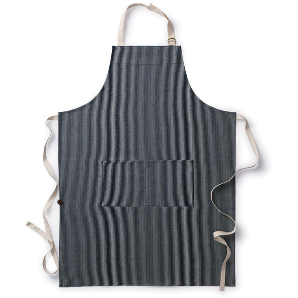 EarthHero - Striped Organic Cotton Cooking Apron - 1