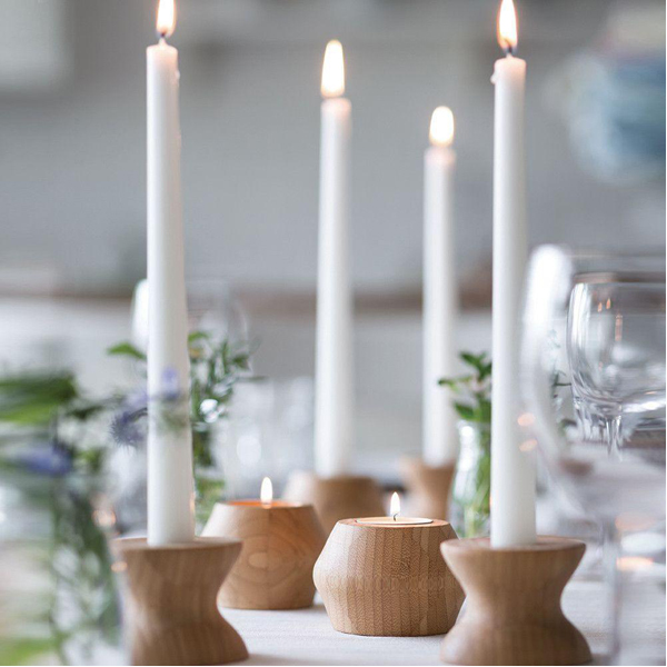 EarthHero - Highlight/Lowlight Reversible Bamboo Candle Holders - 6