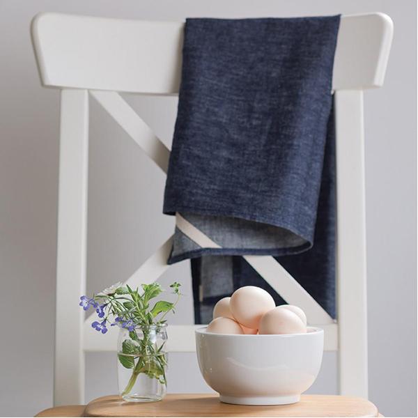 EarthHero - Denim Hemp Kitchen Towel - 4