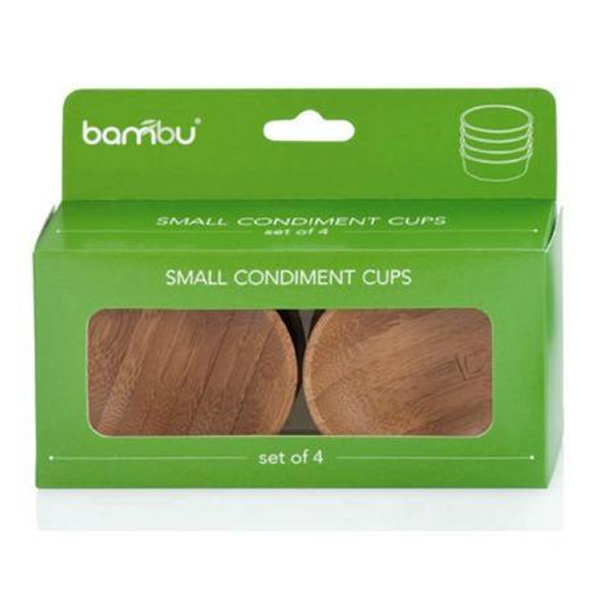 EarthHero - Bamboo Condiment Cups - Small 4pk - 2