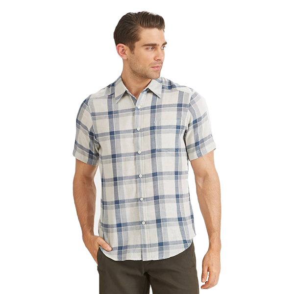 EarthHero - Men's Bilateral Short Sleeve Button Up - Space Plaid