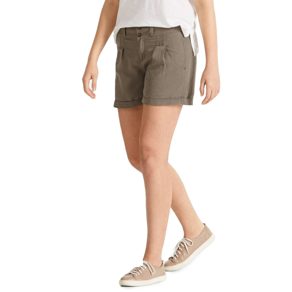 EarthHero - Women's Flaxible Linen Shorts - Sable