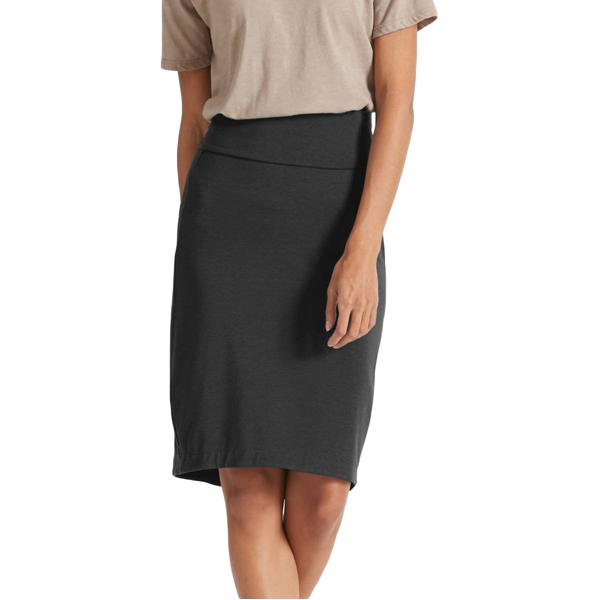 EarthHero - Women's Astir Lapiz Pencil Skirt - Caviar