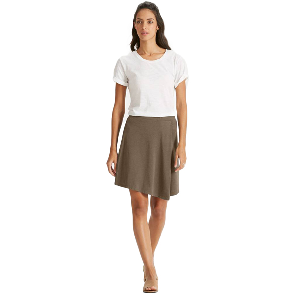 EarthHero - Women's Astir Pleat A-Line Skirt - Sable