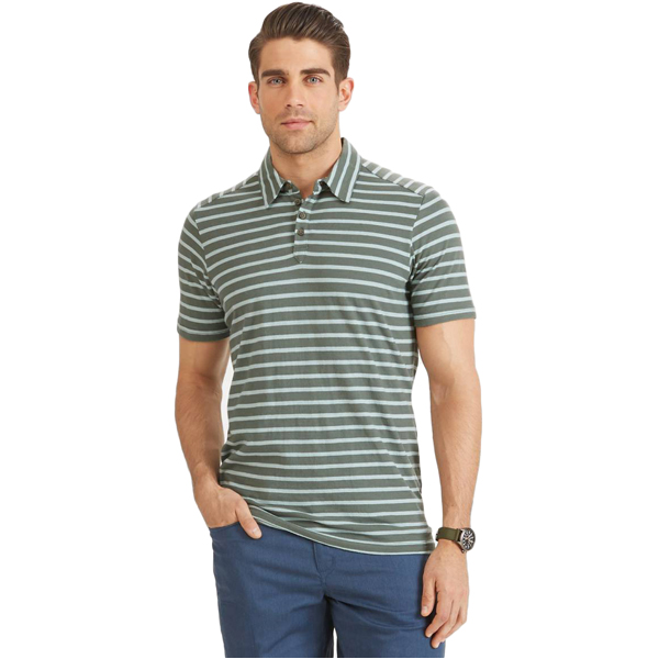 EarthHero - Men's Basis Striped Polo Shirt - Balsam Stripe