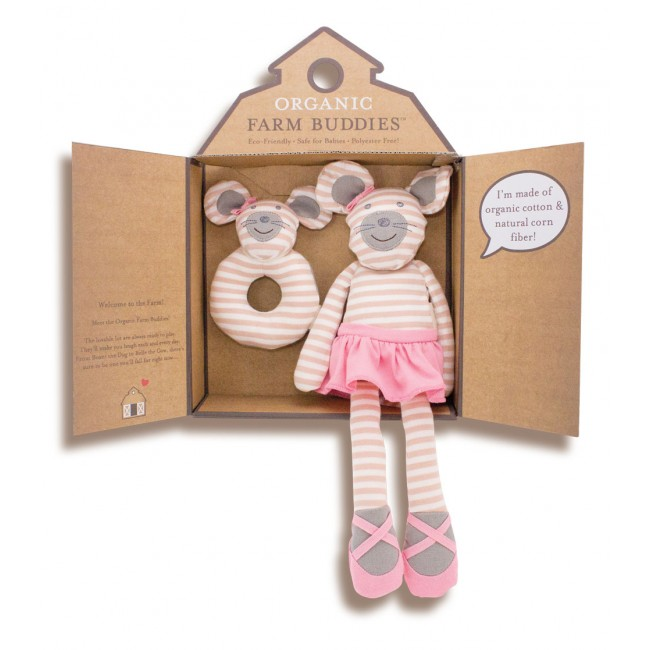 EarthHero - Ballerina Mouse Organic Plush Gift Set 1